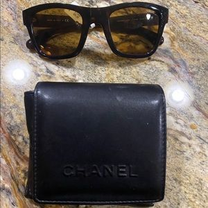 NEW, AUTHENTIC CHANEL Folding Sunglasses, Brown